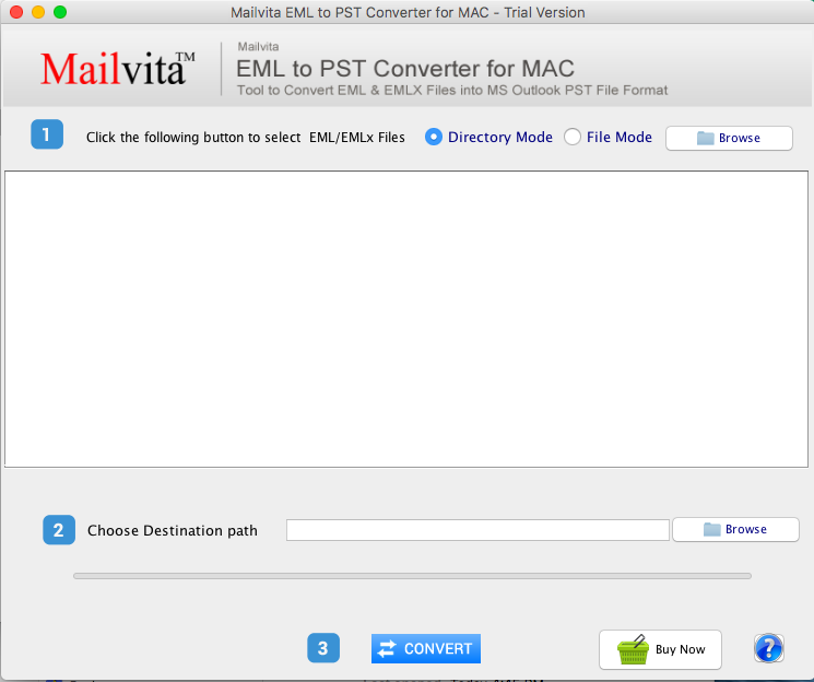 Toolscrunch Mac EML to PST Converter full screenshot