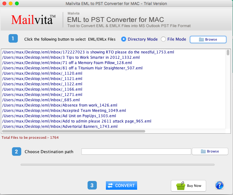 EML to PST for Mac