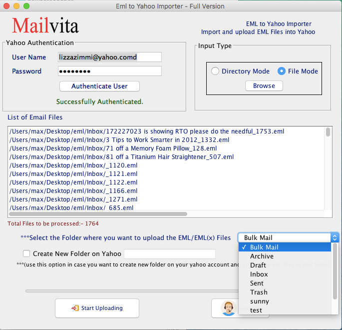 Mac eml to yahoo importer to import or transfer emlemlx to yahoo eml 2 yahoo convert pst to eml for mac ccuart Choice Image