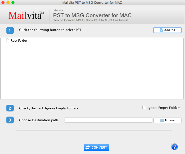 ToolsCrunch Mac PST to MSG Converter