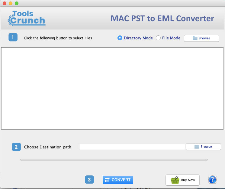ToolsCrunch Mac PST to EML Converter full screenshot