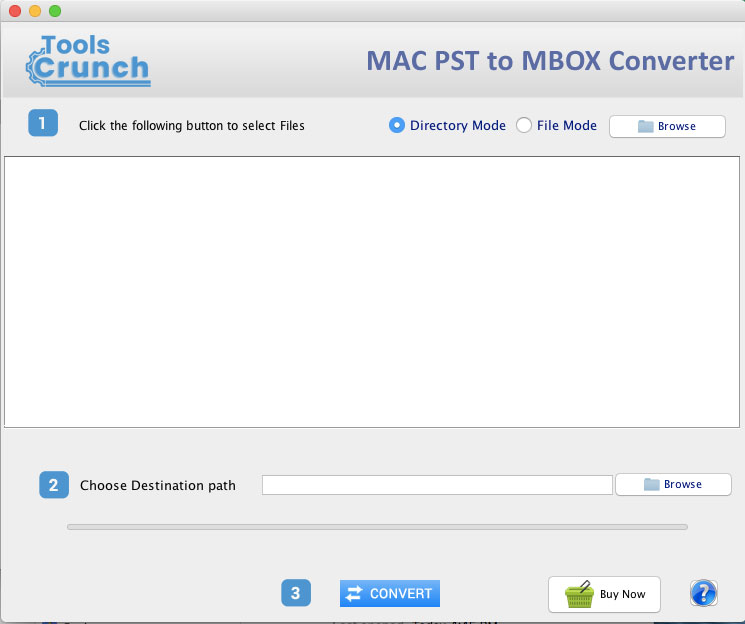 ToolsCrunch Mac PST to MBOX Converter full screenshot