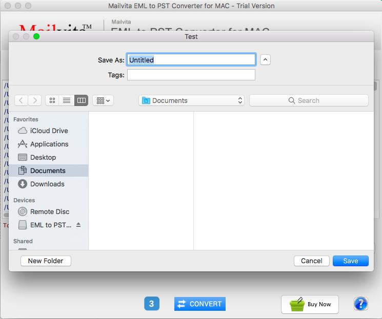 Mac EML to PST Converter for Transmigrate Multiple EML Files